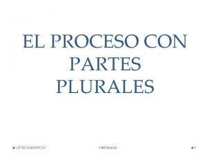 EL PROCESO CON PARTES PLURALES LITISCONSORCIO VMRotondo 1