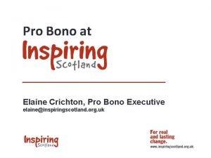 Pro Bono at Elaine Crichton Pro Bono Executive