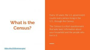 What is the Census https my 2020 census