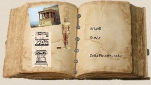 Art 4 All Grecja Zofia Pietrzykowska Dzieje staroytnej