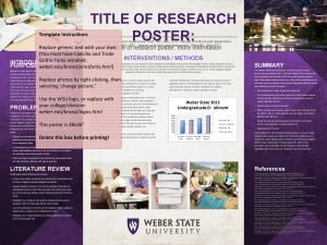 Template Instructions TITLE OF RESEARCH POSTER Names of