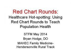 Red Chart Rounds Healthcare Hotspotting Using Red Chart
