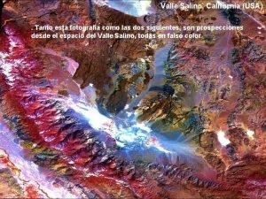 Valle Salino California USA Tanto esta fotografa como