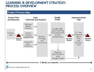 LEARNING DEVELOPMENT STRATEGY PROCESS OVERVIEW Project Process Map