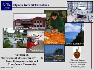 ONE Olympic Network Executives Group Marine Services Education