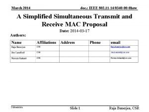 March 2014 doc IEEE 802 11 140340 00