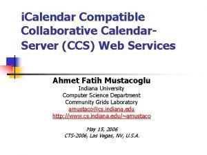 i Calendar Compatible Collaborative Calendar Server CCS Web