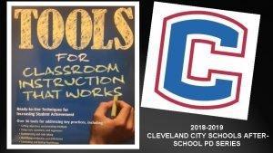 Chalkduster 2018 2019 CLEVELAND CITY SCHOOLS AFTERSCHOOL PD