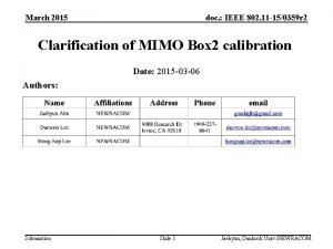 March 2015 doc IEEE 802 11 150359 r