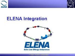 ELENA Integration F Butin ELENA collaboration Status of