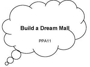 Build a Dream Mall PPA 11 My Dream