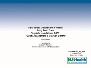 New Jersey Department of Health Long Term Care