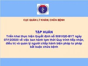 CC QUN L KHM CHA BNH TP HUN