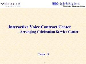 Interactive Voice Contract Center Arranging Celebration Service Center