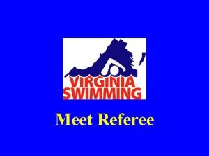 Meet Referee Introduction Rules Regarding the Referee Qualities