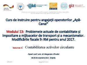 INSTITUTUL DE FORMARE CONTINU N DOMENIUL ALIMENTRII CU