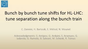 Bunch by bunch tune shifts for HLLHC tune