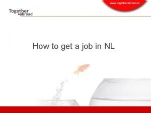 How to get a job in NL Content