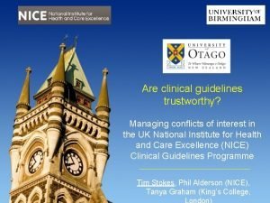 Are clinical guidelines trustworthy Managing conflicts of interest
