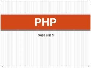 PHP Session 9 My SQL Database sql CREATE