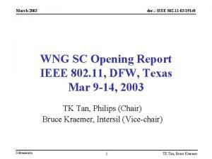 March 2003 doc IEEE 802 11 03191 r