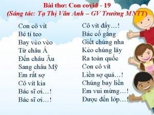 Bi th Con covid 19 Sng tc T