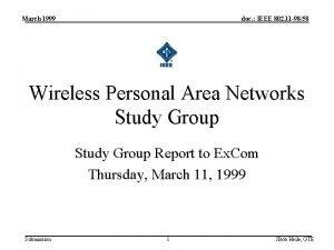 March 1999 doc IEEE 802 11 9858 Wireless