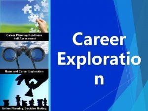 Career Planning Readiness Self Assessment Major and Career