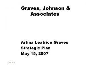 Graves Johnson Associates Artina Leatrice Graves Strategic Plan