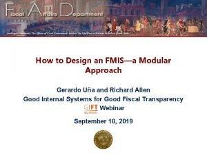 How to Design an FMISa Modular Approach Gerardo