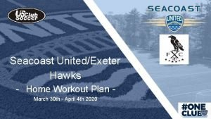 Seacoast UnitedExeter Hawks Home Workout Plan March 30