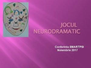 JOCUL NEURODRAMATIC Conferinta SMARTPSI Noiembrie 2017 Ce este