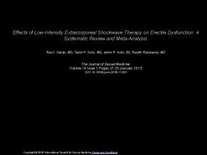 Effects of LowIntensity Extracorporeal Shockwave Therapy on Erectile