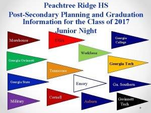 Peachtree Ridge HS PostSecondary Planning and Graduation Information