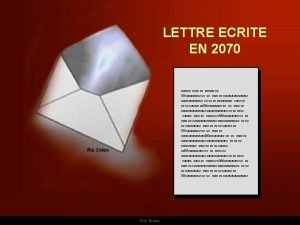 LETTRE ECRITE EN 2070 www www w Wwwwww