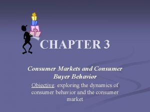 CHAPTER 3 Consumer Markets and Consumer Buyer Behavior