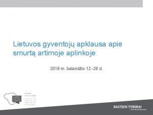 Lietuvos gyventoj apklausa apie smurt artimoje aplinkoje 2019