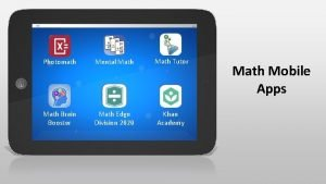 Photomath Mental Math Tutor Math Brain Booster Math