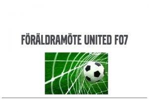 FRLDRAMTE UNITED F 07 Agenda 2 Aktiviteter 2020