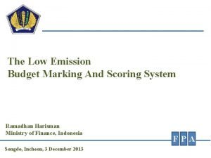 The Low Emission Budget Marking And Scoring System