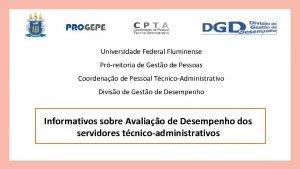 Universidade Federal Fluminense Prreitoria de Gesto de Pessoas