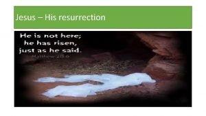 Jesus His resurrection Jesus His resurrection The views