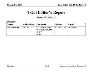 November 2012 doc IEEE 802 11 121366 r