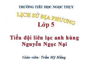 TRNG TIU HC NGC THY Lp 5 Tiu