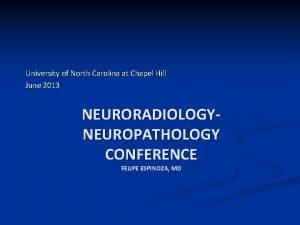 University of North Carolina at Chapel Hill June