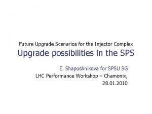 Future Upgrade Scenarios for the Injector Complex Upgrade