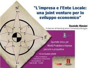 Limpresa e lEnte Locale una joint venture per