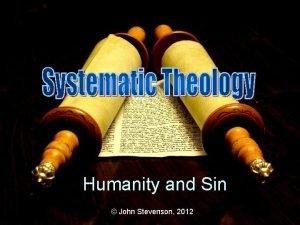Humanity and Sin John Stevenson 2012 Genesis 1