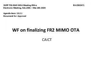 3 GPP TSGRAN WG 4 Meeting 94 e