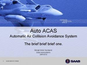 1 2212021 Auto ACAS Automatic Air Collision Avoidance